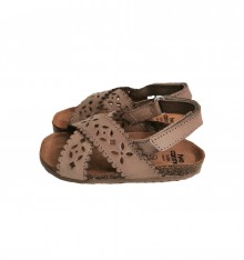 LEATHER SANDAL IN SAND COLOUR
