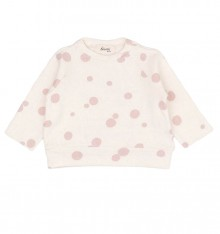 CREAM SWEATER WITH DOTS