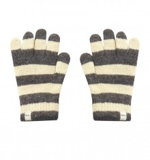 STRIPPED KNITTED GLOVES